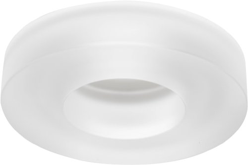 (Juno Lighting 4480FROST 4-Inch Solid Glass Collar Recessed Trim, Frost )