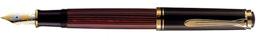 PELIKAN Souveran Gt Broad Point Fountain Pen, Black/Red (928663)