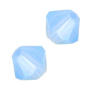 Bicone Beads Air - Swarovski Elements 5301 4mm Bicone Crystal Beads - Air Blue Opal (48)