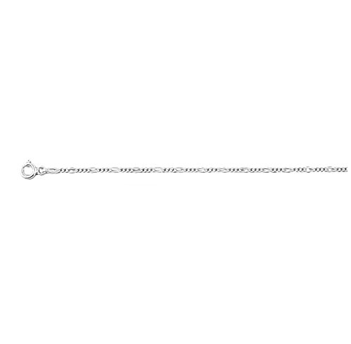 .925 Sterling Silver 1.5 MM Classic Figaro Italian Chain Necklace, 22'' (Necklace 22' Figaro Sterling Silver)