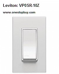 Leviton VP0SR-10Z Coordinating Switch Remote All Load Types 3-Way or Up to 10 Location Applications 120 Volt Vizia+ Decora Style Digital - White Ivory Light Almond (Pkg of 2)