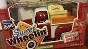 M&M Sweet Wheelin Reds Garage Candy Dispenser- Red Truck