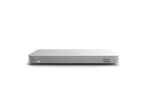 Cisco Meraki MX64 Small Branch Security Appliance Bundle, 200Mbps FW, 5xGbE Ports - Includes 1 Year Advanced Security License - Utm Bundle Firewall Appliance