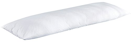 "puredown 30% White Goose Down Body Pillow White 20"" x 60"""
