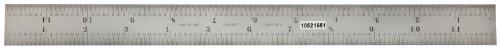 Starrett Rule (Starrett C604R-12 Spring Tempered Steel Rule With Inch Graduations, 4R Graduation, 12