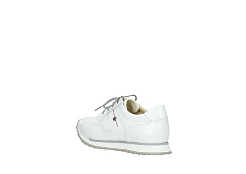 Wolky Comfort 30100 Leather walk Brushed White Baskets E BB6dPwrq