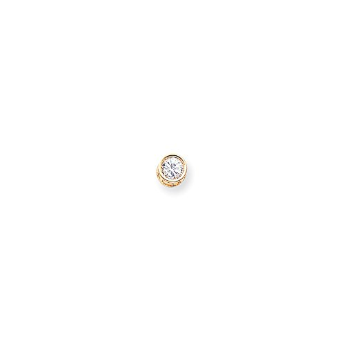 14kt Yellow Gold 6mm Round Bezel Pendant (Single Pendant Mounting)