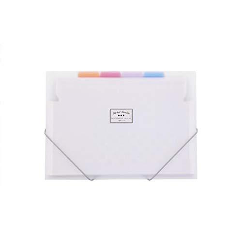 XUANLAN Carpeta de órganos portátil, Bolsa de Almacenamiento de Bolsa de órganos elástica Fina A4 6 Capas 7 Bolsas (Color...
