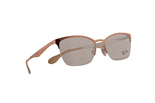 Ray-Ban RB 6345 Eyeglasses 52-17-135 Silver Top Light Brown w/Demo Clear Lens 2920 RX RX6345 ()