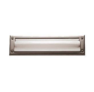 Baldwin 0012.055 Lifetime Polished Nickel 13'' x 3.625'' Letter Box Plate