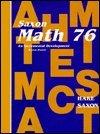 Saxon Math 76