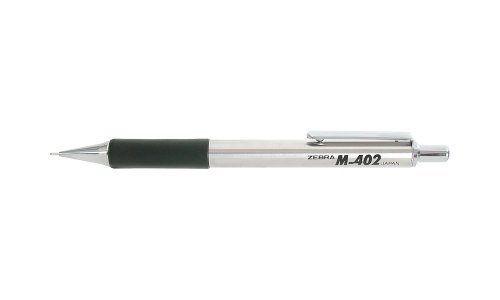 Zebra's M-402 Stainless Steel Mechanical Pencil 0.5mm Black Dozen (59210)