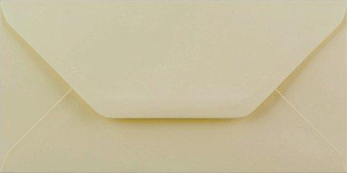 Cranberry Card Company - Buste di qualità superiore, formato DL, colore: Panna/Avorio, confezione da 100