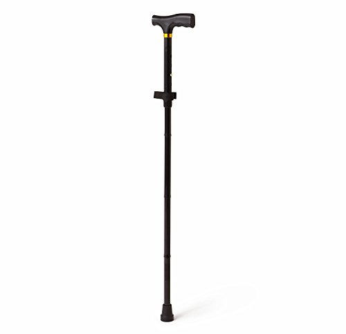 Medline MDS86430W Folding Cane Black