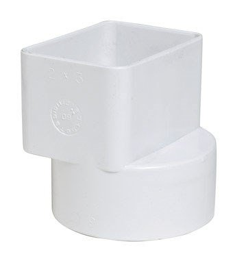 2 Pvc Adapter - Plastic Trends P1923 PVC Flush Downspout Adapter, 2