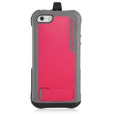 (Ballistic EV0993-M111 Every1 Series Pink and Grey Case for iPhone 5 with/Kickstand, Holster, and Built-in Screen Protector )