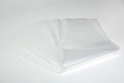 New 25 pk Pack Clear 20 x 30 Clear Lay Flat Poly Bags Open Top 4mil Heavy Duty 4 Mil Thick 50pk 20x30 Bags (Open Top Bags Poly)