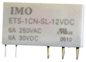 (IMO PRECISION CONTROLS ETS-1CN-SL-12VDC POWER RELAY, SPDT, 12VDC, 6A, PC BOARD (1 piece))