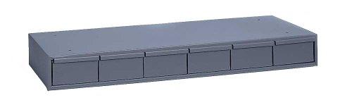 Durham 002-95 Gray Cold Rolled Steel Storage Cabinet, 33-3 4 Width x 4 Height x 11-5 8 Depth, 6 Drawer
