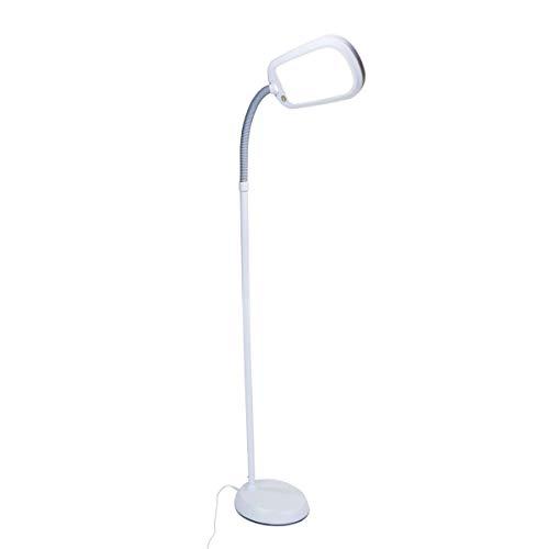 HomeConcept LED101GY Led Bright Reader Natural Daylight Full Spectrum Floor Lamp New Slimmer Design, Grey ()
