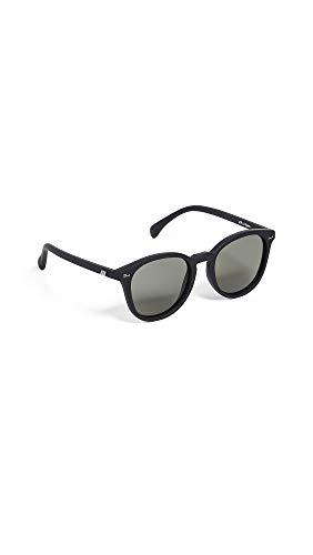 Le Specs Women's Bandwagon Sunglasses, Black Rubber/Khaki Mono, One ()