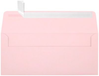 #10 Square Flap Envelopes w/Peel & Press (4 1/8 x 9 1/2) - Candy Pink (250 Qty.) | Business | For Checks, Invoices, Letters & Mailings | Printable | 80lb Text Paper | EX4860-14-250