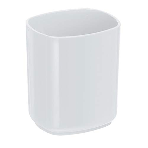 Acrimet Jumbo Pencil Cup Holder (White - White Plastic Pen