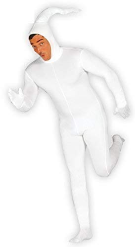Mens Sperm 2nd Skin Stag Do Novelty Funny Fancy Dress Costume Outfit Large (Large) White
