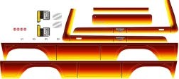 - Traxxas 8078 Ford Bronco Decal Sheet, Sunset