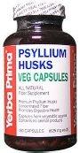 Yerba Prima Psyllium Husks Veg Capsule - 180 per pack -- 3 packs per case.