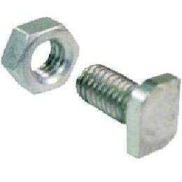 (The Home Fusion Company 20 x Greenhouse Glasshouse Aluminium Cropped Head Nuts and Bolts M6 x 12mm)