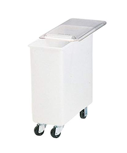 Carlisle BIN2702 Portable Ingredient/Food Storage Bin with Sliding Lid, 27 Gallon, White ()