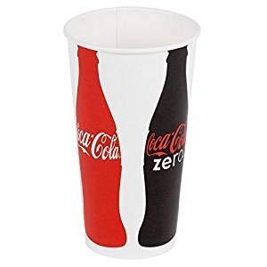 New (50) Coke Coca Cola Restaurant Red White Paper Cups 22oz