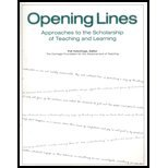 Opening Lines : Approaches to the Scholarship of Teaching and Learning, Carnegie Foundation for the Advancement of Teaching Staff, 0931050685