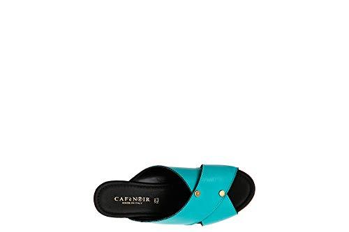 Black Khc101 Coffee Pantofole incrociate e 376 borse Turchese E18 Iwqq1tX