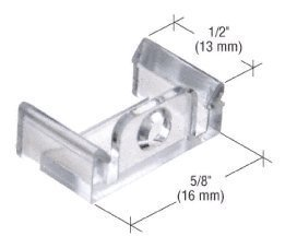 Clear 5/8 x 1/2 Window Grid Retainers - pack of six by C.R. Laurence ()