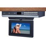 Audiovox VE727 Ultra Slim 7-Inch LCD Drop Down TV with Built-In Slot Load DVD Player (Silver)