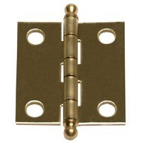 Brass Butt Hinge (Stanley Hardware S803-392 Antique Brass Cabinet Hinges Pack of 2)