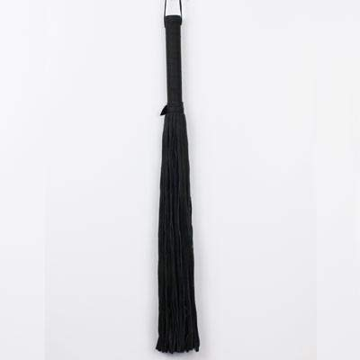 Spank Provocateur 19'' Tassel Black Leather Flogger - Must-Have for Special Sex Moments (Black) by Spank Provocateur