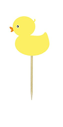 Ducky Invite - Ducky Cupcake Toppers