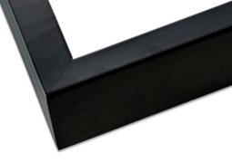 Frame Black Panel - Ambiance Gallery Wood Picture Frame for Stretched Canvas, Artist Panels and Art Boards [Single Frame] 9x12
