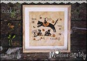 Black Cat Cross Stitch Chart and Free Embellishment (Black Cat Stitch Cross)