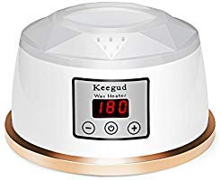 (Wax Warmer Hair Removal 2018 Upgrade Version Electric Wax Heater With LCD Temperature Display and UL Certification Plug Waxing Kit Wax Melts with 4 Flavors Hard Wax Beans and 10 Wax Applicator Sticks )