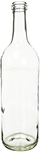 750 ml Clear Glass Claret/Bordeaux Bottles, 12 per case