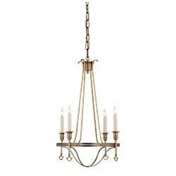 Savannah Four Light Bath - Visual Comfort SR5140HAB Studio John Rosselli Small 4 Light Savannah Chandelier