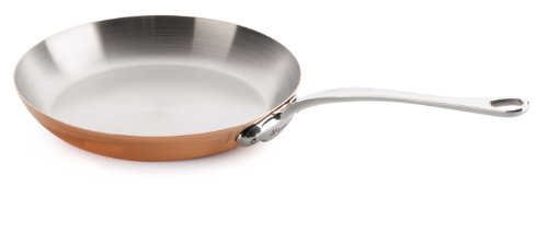 Mauviel 22 cm M'Heritage 150c Copper Round Fry Pan with Stainless Steel Handle