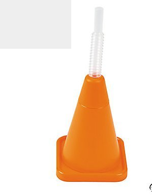 Construction Cone Molded Cups with Straws
