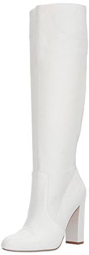 Steve Madden Women's Eton Fashion Boot, White Leather, 7.5 M US