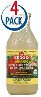 Bragg - Organic Apple Cider Vinegar All Natural Drink Ginger Spice - 16 oz. (Pack of 2)