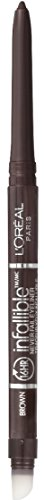 L'Oreal Paris Makeup Infallible Never Fail Original Mechanical Pencil Eyeliner with Built in Sharpener, Brown, 0.008 oz. ()